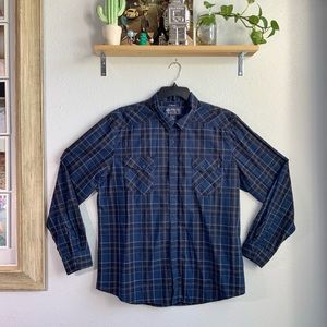 Mens Plaid Long Sleeve Button Up Size XXL NWT